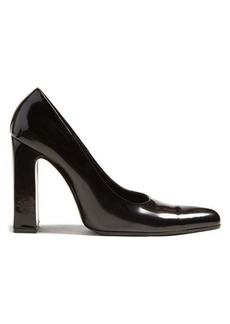 Balenciaga Block-heel leather pumps