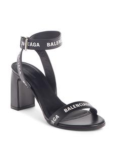 Balenciaga Block Heel Logo Sandal (Women)