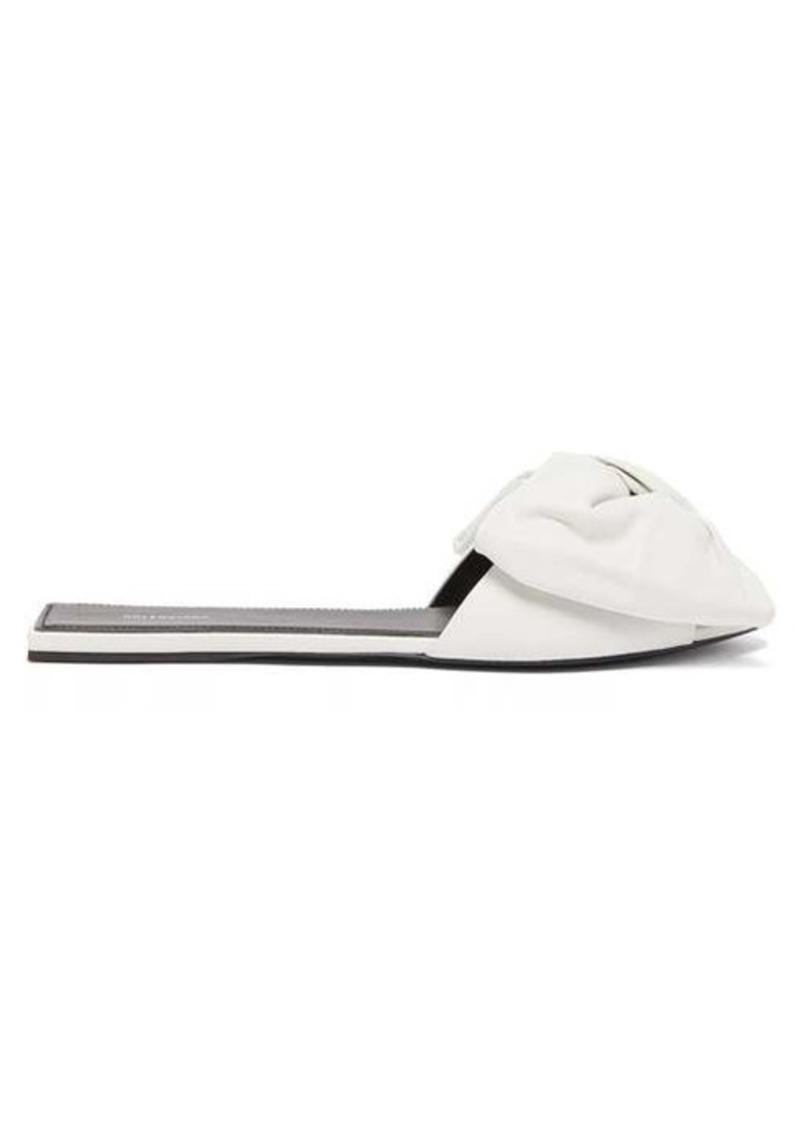 Balenciaga Bow-embellished leather slides