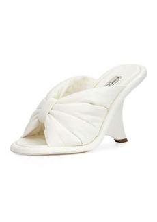 Balenciaga Bow Wedge 110mm Slide Sandal