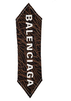 Balenciaga Brass Chains Silk Scarf