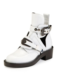 Balenciaga Buckle Leather 35mm Bootie