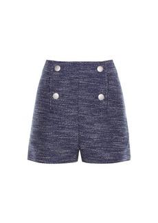 Balenciaga Button-front tweed shorts