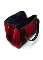 Balenciaga Cabas S plaid bag