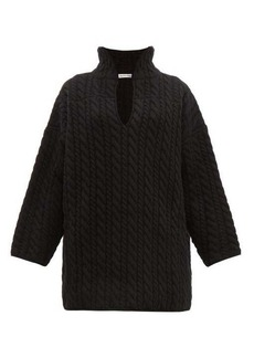 Balenciaga Cable-knit wool sweater