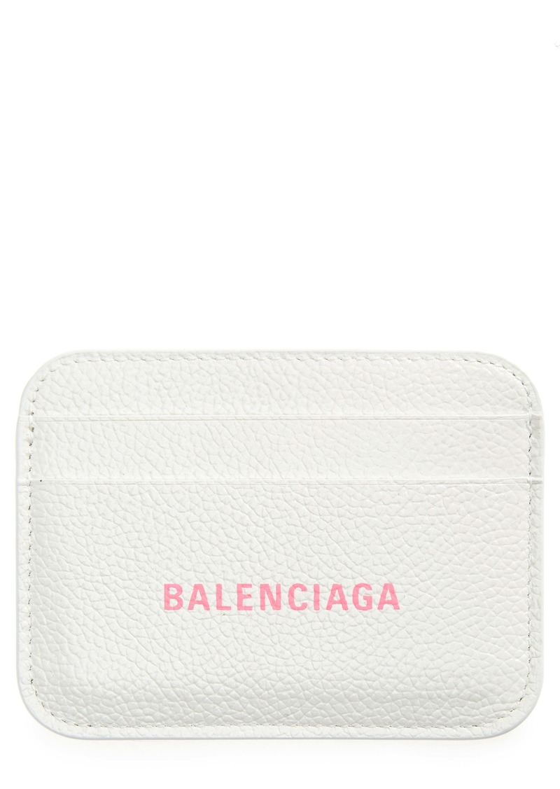 Balenciaga Calfskin Leather Card Case