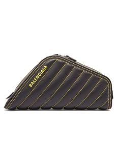 Balenciaga Car quilted leather clutch