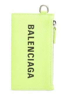 Balenciaga Cash Leather Lanyard Card Case