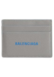 Balenciaga Cash Logo Leather Card Case