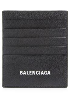 Balenciaga Cash Logo Vertical Leather Card Case