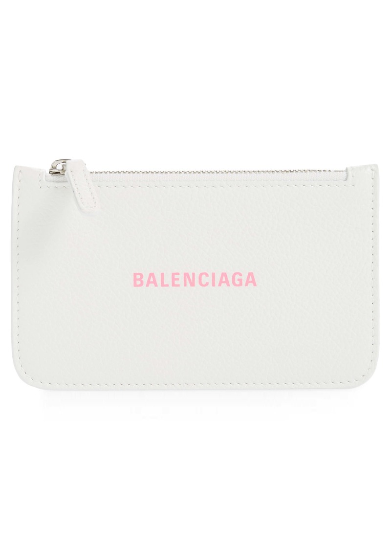 Balenciaga Cash Long Leather Card Holder
