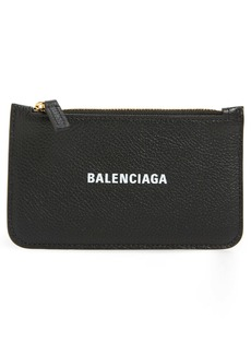 Balenciaga Cash Zip Leather Card Holder