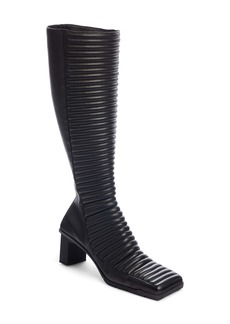 Balenciaga Channel Quilted Knee High Bootie (Women)