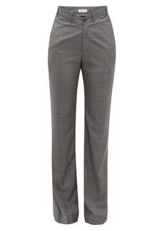 Balenciaga Checked high-rise wool-blend trousers