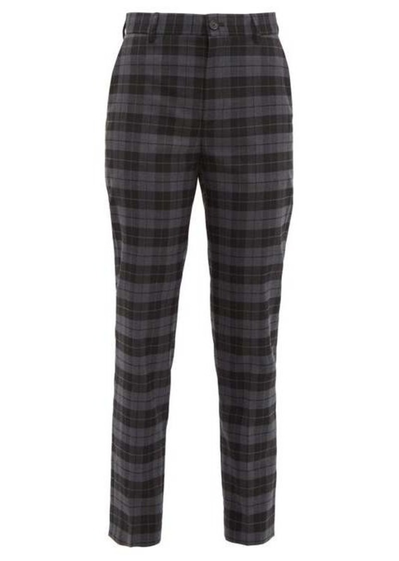 Balenciaga Checked twill tapered trousers