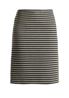 Balenciaga Checked wool-blend pencil skirt