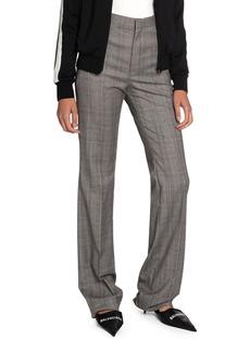 Balenciaga Checked Wool High-Rise Pants