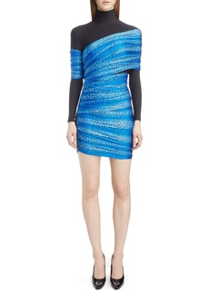 Balenciaga Cheetah Print Overlay Body-Con Dress