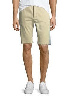 Balenciaga Chino Denim Raw-Edge Shorts