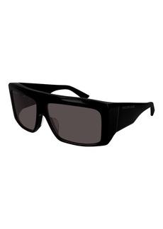 Balenciaga Chunky Acetate Rectangle Sunglasses