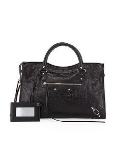 Balenciaga Classic City AJ Satchel Bag with Logo Strap