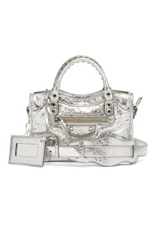 Balenciaga Classic City mini metallic-leather bag