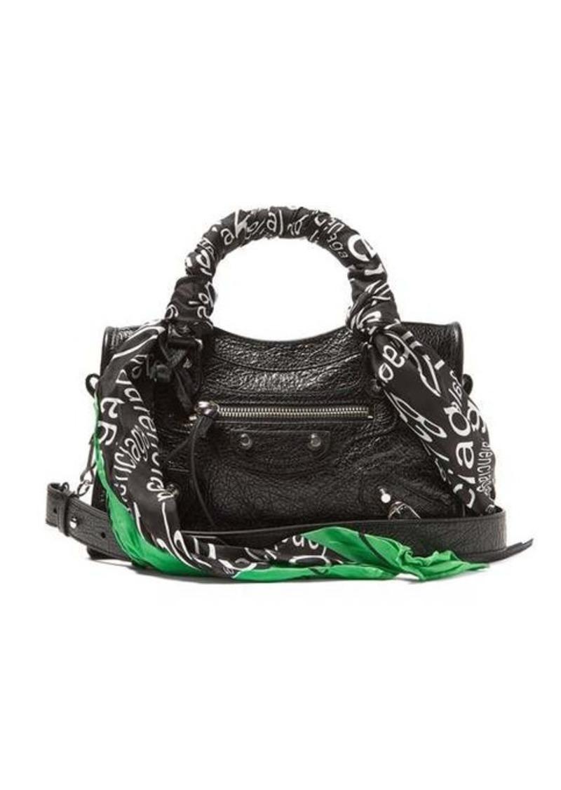 Balenciaga Classic City nano scarf-handle leather bag