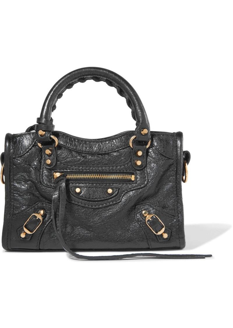 e86017a5ea13 Balenciaga Classic City nano texured-leather shoulder bag