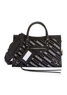 Balenciaga Classic City Small AJ Logo-Print Leather Tote Bag
