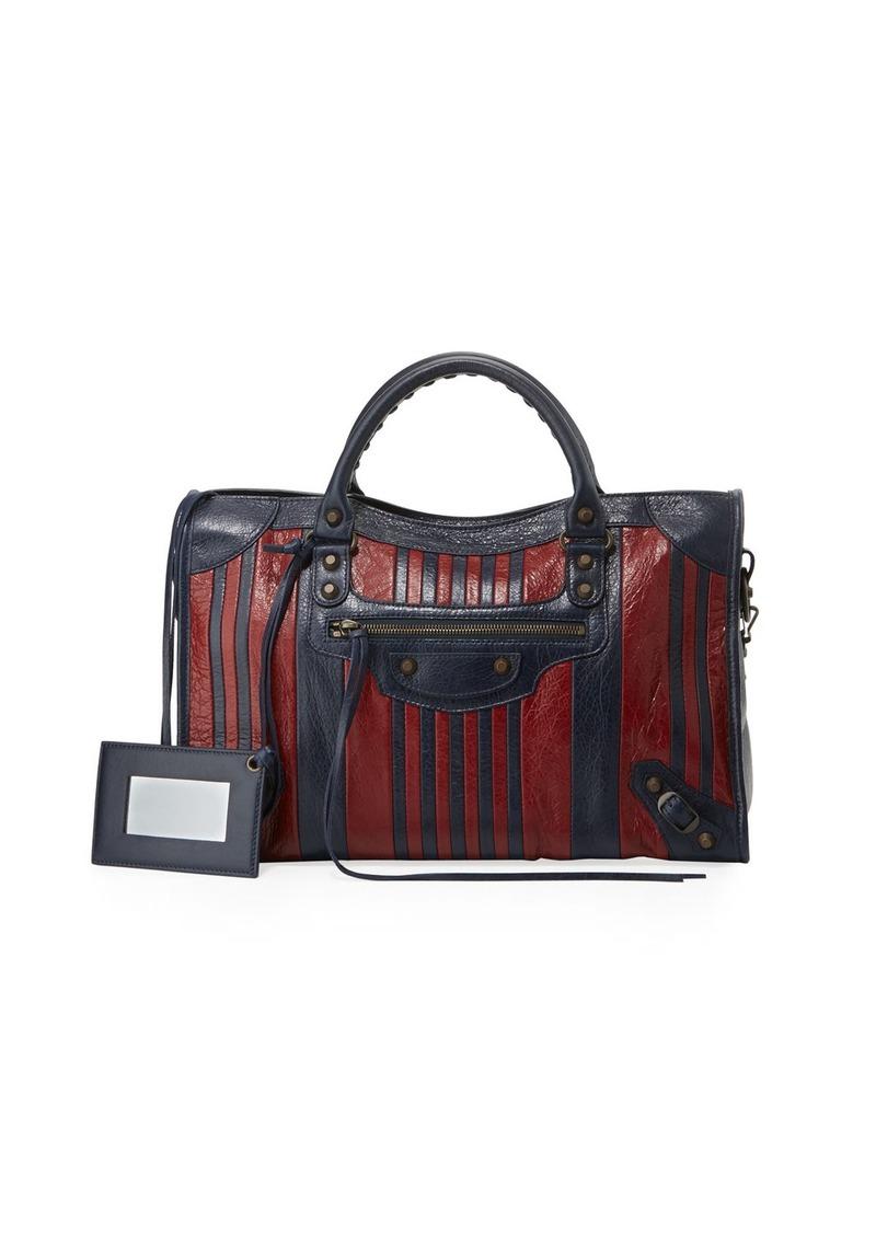 6bf0cb9ded2c Balenciaga Classic Colorblock Striped Edge City Bag