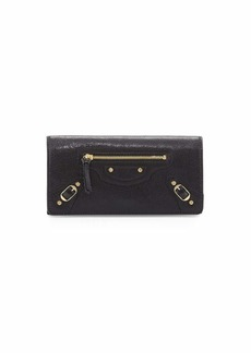 Balenciaga Classic Gold Money Wallet  Black (Noir)
