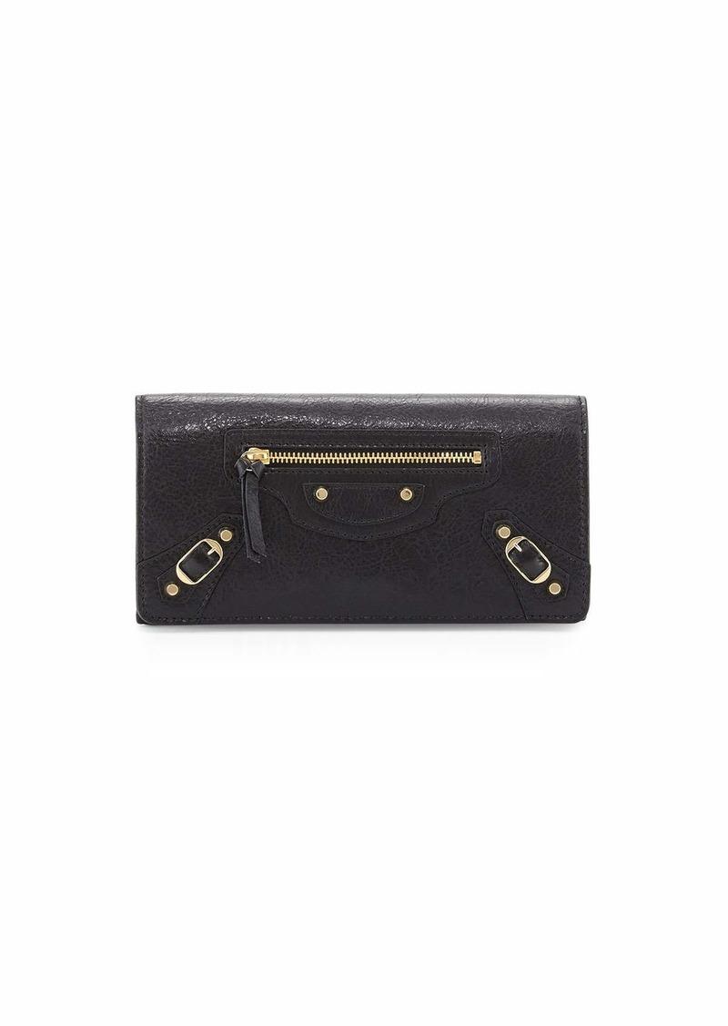 Balenciaga Classic Gold Money Wallet  Black (Noir)