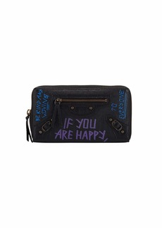 Balenciaga Classic Graffiti Continental Zip-Around Wallet