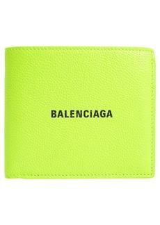 Balenciaga Classic Logo Leather Bifold Wallet