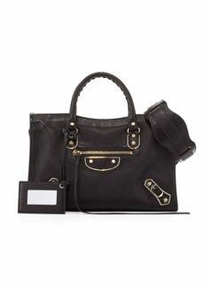 Balenciaga Classic Metallic Edge City Small Bag  Black/Gold