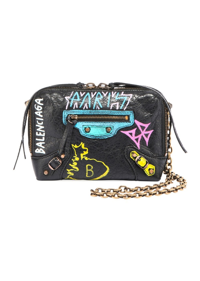 f475e23864d5c6 Balenciaga Classic Reporter XS Chain Graffiti Crossbody Bag   Handbags