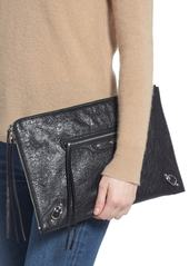 Balenciaga Classic Silver Zip Large Pouch