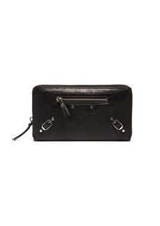 Balenciaga Classic zip-around leather wallet