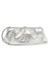 Balenciaga Cloud XL crackled metallic-leather cross-body bag