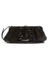 Balenciaga Cloud XL crocodile-effect leather cross-body bag