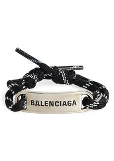 Balenciaga Cord Plate Bracelet