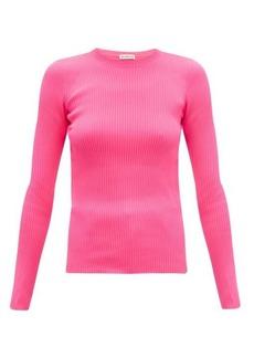 Balenciaga Crew-neck rib-knitted sweater
