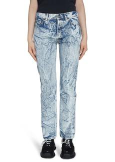 Balenciaga Crinkle Wash Straight Leg Jeans