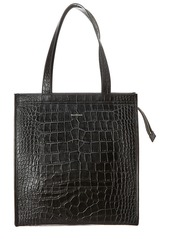 Balenciaga Croc-Embossed Leather Tote
