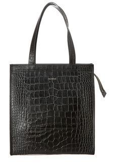 Balenciaga Croc-Embossed Leather Tote