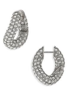 Balenciaga Crystal Hoop Earrings