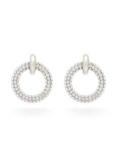 Balenciaga Crystal-pavé hoop earrings
