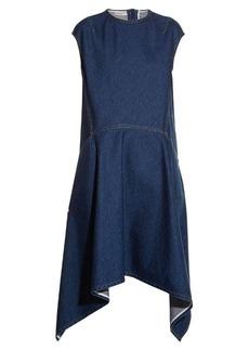 Balenciaga Cut-out back-hem denim dress