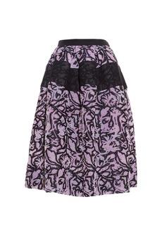 Balenciaga Dahlia cloqué midi skirt