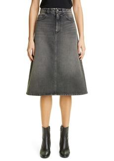 Balenciaga Denim Midi Skirt